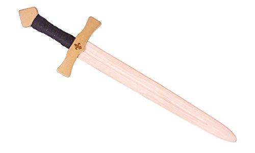 Ritterschwert Artus aus Holz für Kinder, ca. 60 cm lang - Spielzeug Schwert für kleine Ritter (gold)