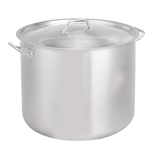 AmazonCommercial 60 Qt. Stainless Steel Aluminum-Clad Stock Pot with Cover