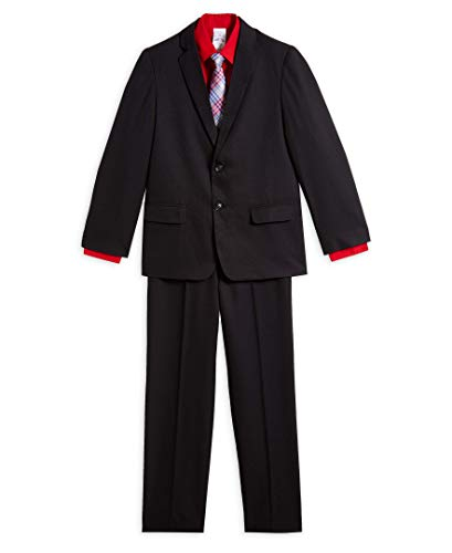 Nautica Boys' 4-Piece Suit Set with Dress Shirt, Tie, Jacket, and Pants, Medium Pink, 4T