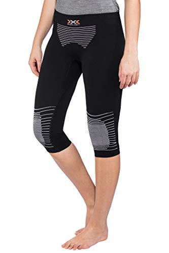 X-Bionic I020282 Leggings de Sport Femme, Noir/Blanc, FR : L (Taille Fabricant : L/XL)