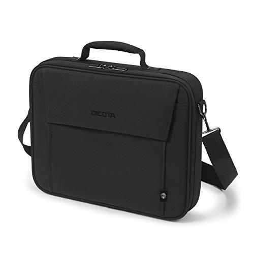 Dicota Eco Multi Base 14-15.6 – umweltfre&liche Notebooktasche mit Schutzpolsterung, schwarz