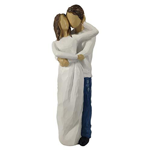 Garneck Pareja Figura Novia Novio Pastel Adorno Amor Juntos Pareja Escultura Boda Nupcial Espectáculo Mesa Ornamento