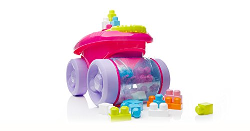 Mega Bloks First Builders Block Scooping Wagon Vehicle (Scooping Wagon, Pink)