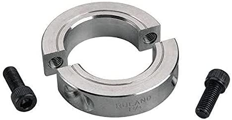 Tulsa Mall Ruland Manufacturing Shaft Collar Now on sale Clamp Pack 2Pc 35mm Alum