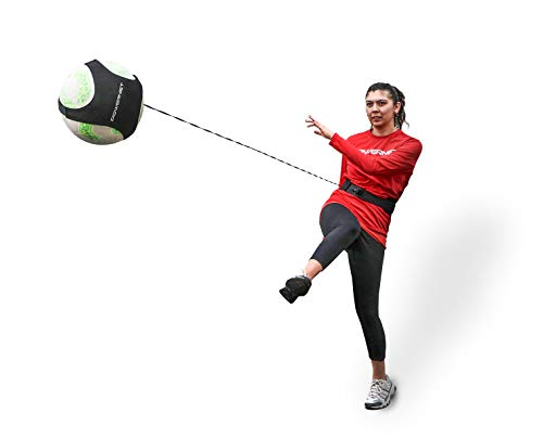 PowerNet Soccer Solo Trainer | Fits Size 3, 4 or 5 Balls | Adjustable Waist Attachment | Great for Goalkeeper and Great for Goalkeeper Punt, Catching and Receiving Control Training