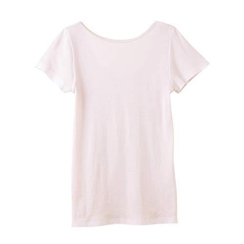 [グンゼ]インナーシャツクールマジック・部屋干しクイック汗取り付き2分袖MC5951レディーススモークピンク日本L(日本サイズL相当)