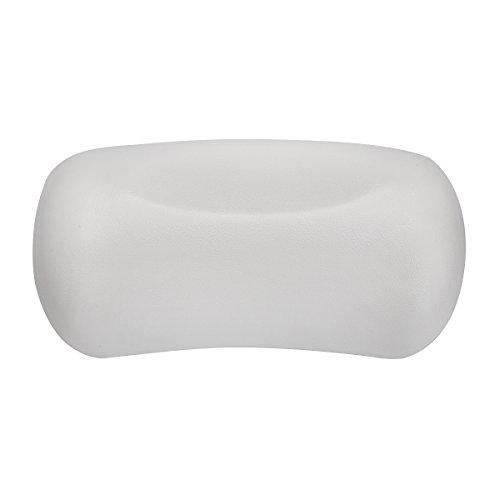 étanche rembourré en mousse Oreiller de bain Spa jacuzzi Tête Coussin de dossier ergonomique – Blanc Tête et cou support Oreiller de bain pour baignoire, Home Spa Tub