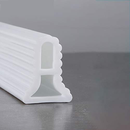 YZZR Tira de retención de Agua,Piso del baño del Cuarto húmedo,para el Umbral De DuchaTira De Sellado De Retención De Agua Plegable Deflector De Agua De Cocina Umbral De Ducha Presa Barrera De Ducha