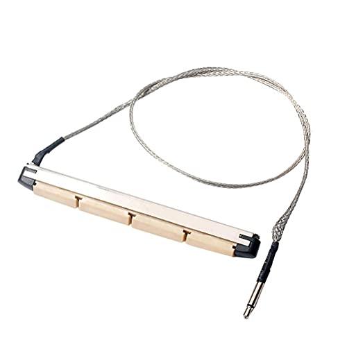 LIXBD Tonabnehmer für Bassgitarre mit 4 Saiten, passiver Piezo-Film, für Akustikgitarre