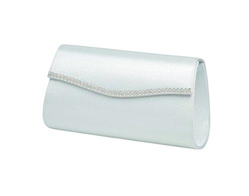 LEXUS Elegante Clutch für die Braut mit diamanten verzierten Deckelkante