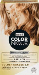 Balea COLORNIQUE Intensiv Color Creme Golden Shades 8.0, 1 St
