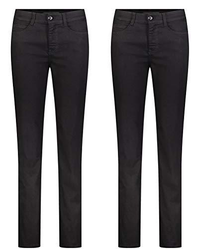 MAC Angela 2er Pack Damen Jeans in Verschiedene Farbvarianten Damen Hose, Größe:W40/L32, Farbe:D999