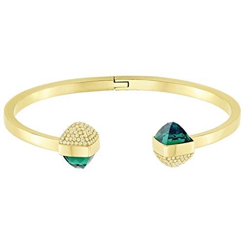 Swarovski Damen-Armreif Glance Vergoldet teilvergoldet Kristall grün - 5278533