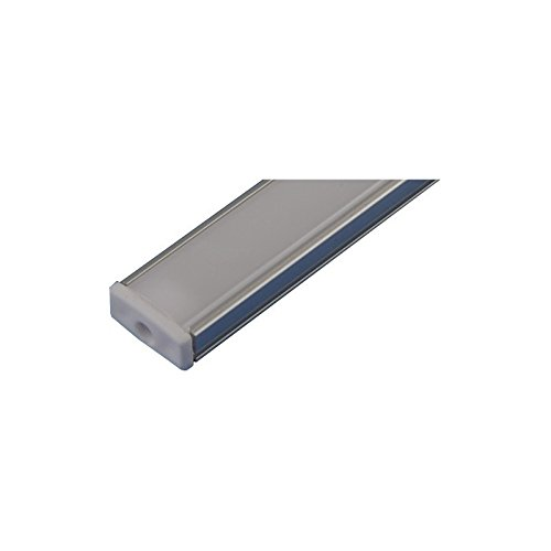 Jandei - Perfil Aluminio Tira led 2 Metros Superficie con Tapa traslúcida 12,3x6,08mm