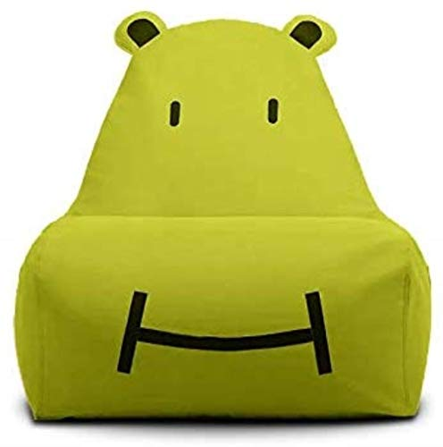 LHY- Canapé Lazy Kid Cartoon Creative Lounge Unique Mignon Tatami Chair Fabric Canapé Bean Sac Amovible et Lavable Doux (Color : Green)