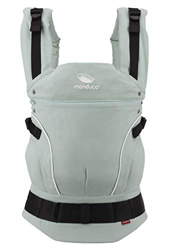 manduca First Baby Carrier > PureCotton < Mochila Portabebe Ergonomica, Algodón Orgánico, Extensión de Espalda Patentada, para Recién Nacidos y Bebés de 3,5 a 20 kg (PureCotton, Mint (verde menta))