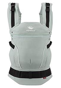 manduca First Baby Carrier > PureCotton < Mochila Portabebe Ergonomica, Algodón Orgánico, Extensión de Espalda Patentada, para Recién Nacidos y Bebés de 3,5 a 20 kg (PureCotton, Mint (verde menta))