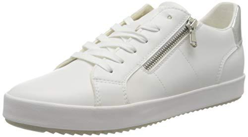 Geox Women's D BLOMIEE A Sneaker, Optic White, 5 UK