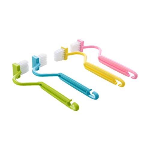 Da.Wa Saubere WC Bürste Kunststoff Soft Bürste,Perfekt für die Reinigung Küche Ecke,Bad,Spüle Schlitz,WC Ecke,Schmutz,Zufällige Farbe