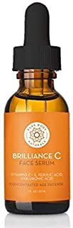 Vitamin C Serum Dark Spot Corrector for Face, with Hyaluronic Acid and Vitamin E - Brightening Dark Spot Corrector Serum by Pure Body Naturals