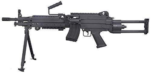 CyberGun Airsoft M249 para Fn Herstal Minimi Nylon Keymod/Nylonfaser/Farbe Schwarz/Elektrisch (0,5 Joule) - Halbautomatik/Vollautomatik