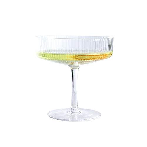 TSP Accesorios de vino a rayas para cócteles, copas de cóctel de color rojo, copa de vino personalizada, copa de champán, copa de regalo para bodas, fiestas, bar (color : copa de champán B)