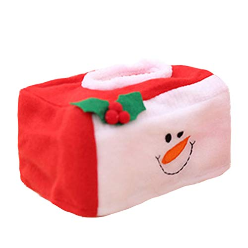 Hohaski New Christmas Decorations Christmas Tissue Box Set Christmas Occasion Decoration, Christmas Ornaments Advent Calendar Pillow Covers Garland Tree Skirt Gift Bags DIY