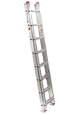 Werner 200-Pound Duty Rating Aluminum Flat D-Rung Extension Ladder