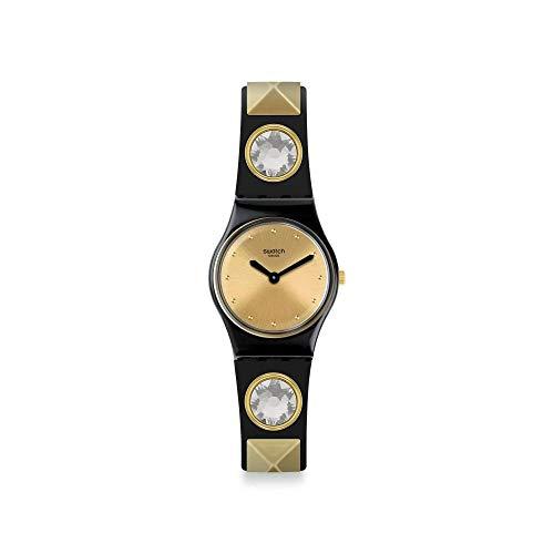 Swatch Damen Analog Schweizer Quarz Uhr mit Silicone Armband LB186