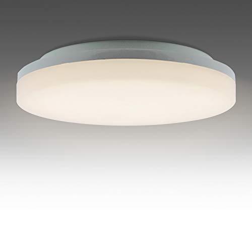 BarcelonaLed Lámpara Plafón LED IP65 impermeable con Sensor detector de movimiento 360º 18W luz blanco neutro 4000K 1600LM downlight circular de techo y pared con para exterior/Interior