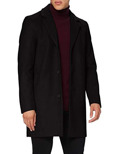 JACK & JONES Herren JJLIAM Coat Jacke, Black, M