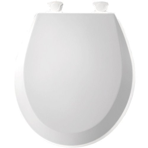 Bemis 500EC 390 Lift-Off Round Closed Front Toilet Seat, Cotton White by Bemis