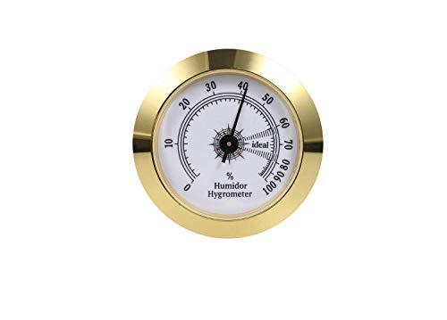 FUNEW Cigar Hygrometer,Round Analog Hygrometer