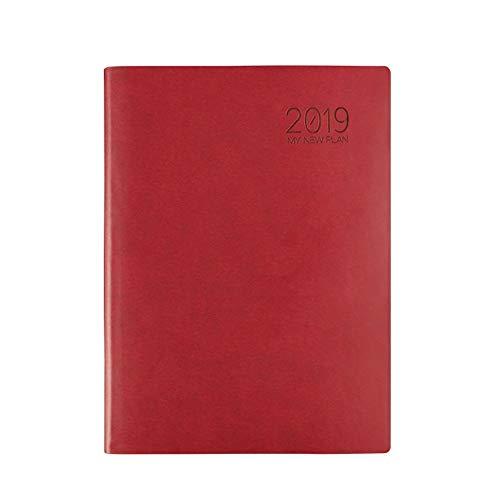 zyhzx notitieboek van PU-leer, inclusief dag/week/maand/jaar, project/memo/budget, curve/academik/cijfer/scheidingswand, 213 x 292 mm