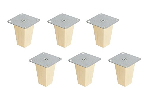 New Swedish Design 6 x IKEA Kallax Regal Füße Möbelfüße Möbelbeine Buche 10 cm Pyramid