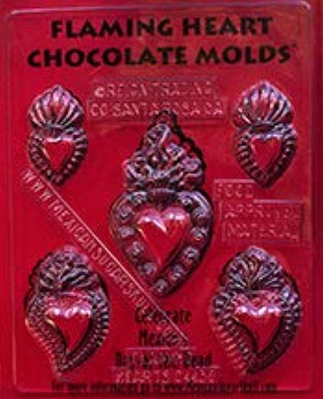 Flaming Heart Chocolate Mold Candy Making Mold