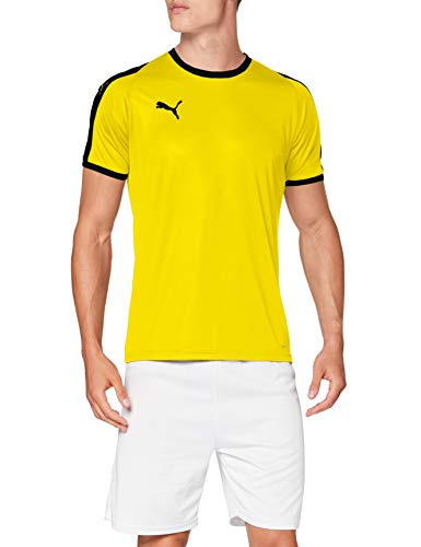 PUMA Liga Jersey Camiseta, Hombre, Cyber Yellow/Black, 3XL