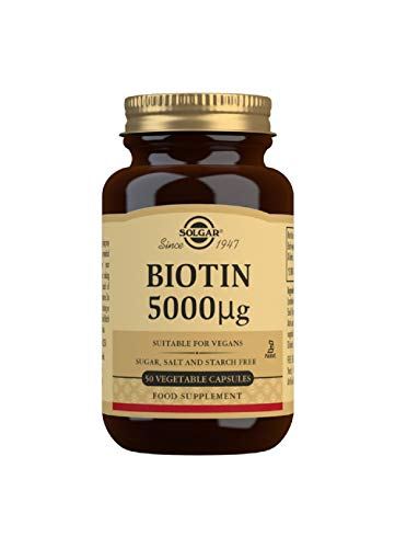 Solgar Biotin 5000 µg Vegetable Capsules, Pack of 50