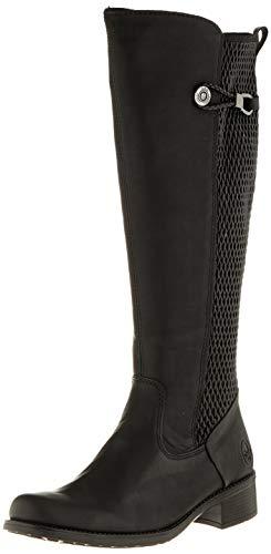 Rieker Damen Stiefel Z7392, Frauen Klassische Stiefel,Boots,reißverschluss,weiblich,Lady,Ladies,Women's,Woman,schwarz (00),40 EU / 6.5 EU