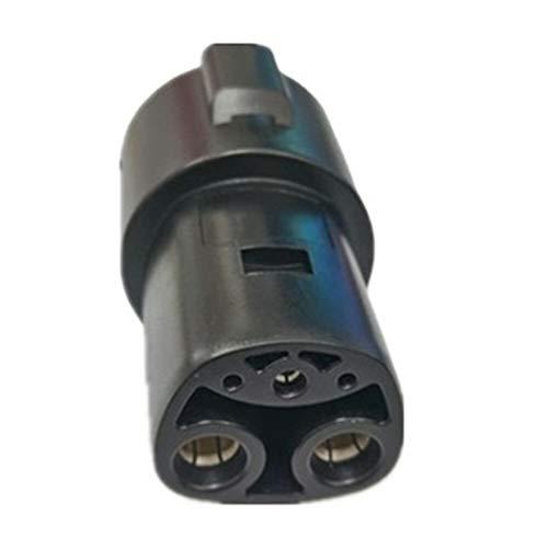 RONGSHU 60A Tipo 1 J1772 Socket a Tesla EV Cargador Adaptador rápido Adaptador para Modelo X, 3, S