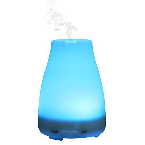 FGONG Tragbare Aromatherapie-Diffusoren, Bunte Aromalampe, Einstellbares Ultraschall-Luftbefeuchtungsgerät Für Kühlen Nebel, Mit Diffusem Automatischen Abschaltschutz