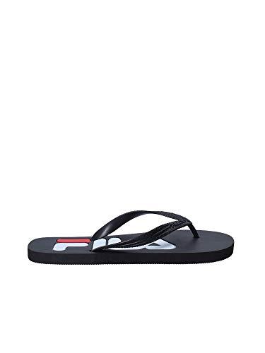 FILA Herren Troy Slipper Flip Flops Synthetik Zehentrenner Black Größe 40
