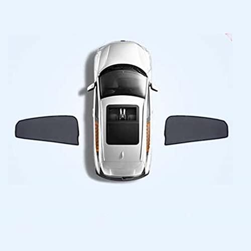 BNMI Cortina magnética universal con protección solar solar solar para ventana lateral de coche, color 2 piezas delanteras
