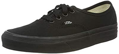 Vans Mens Authentic Core Classic Sneakers (4.5 D(M) US, Black/Black)