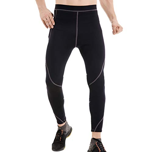 L&Sports Men's Wetsuit Pants,2mm Neoprene Slimming Body Shaper Hot Thermo Leggings for Diving Snorkeling Scuba Surfing Canoeing Winter Swimming,3XL
