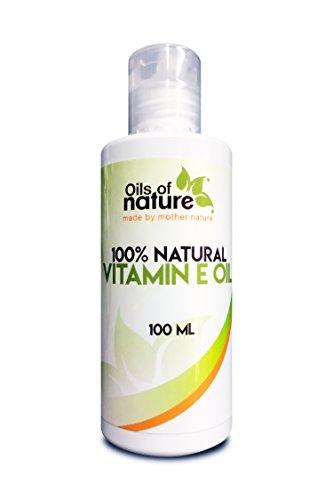 Aceite Natural de Vitamina E – Método Natural de Extracción con Presión en frío – Ideal para Rostro, Pelo y Piel – Perfecto para Cicatrices, Acné, Estrías y Arrugas – LUJOSA Loción de 100ml