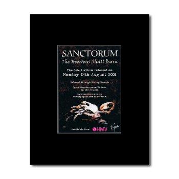 SANCTORUM - The Heavens Shall Burn Matted Mini Poster - 13.5x10cm
