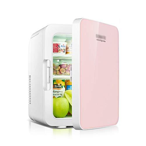 Refrigerador pequeño de 10 litros Mini Pequeño Hogar Hogar para Estudiantes Refrigerado Mini refrigerador Refrigerador para Autos,Rosado