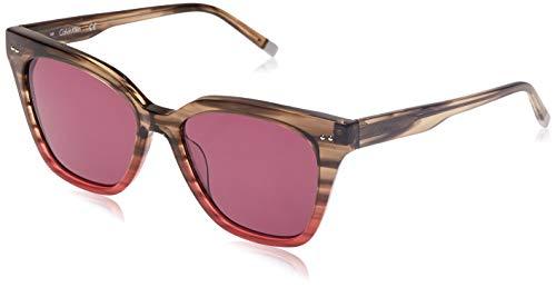 Calvin Klein Sonnenbrille Ck4359S 22 Gafas de sol, Rosa (Pink), 54.0 para Mujer