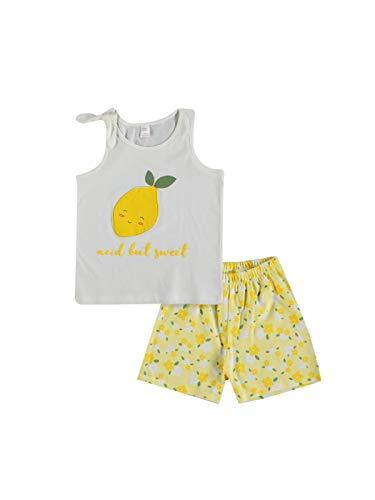 Juego de pijama de algodón impreso para niña de LC Waikiki con pantalones cortos